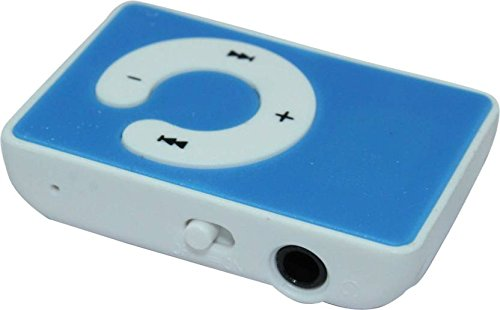UNEQUETREND Mini Clip Music MP3 Player Support 8GB TF Card with Earphone(Multicolor)