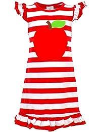 Girls Back to School Apple Shirt Dress