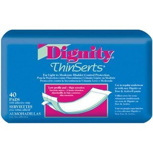 Dignity Thinserts Pads (Dignity ThinSerts Pad with Superabsorbent Polymer (Pack of 45))