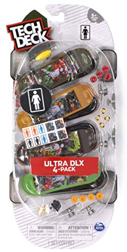 Tech Deck Girl Skateboard Company Ultra DLX Fingerboard 4 Pack