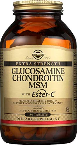Solgar – Extra Strength Glucosamine Chondroitin MSM with Ester-C, 180 Tablets