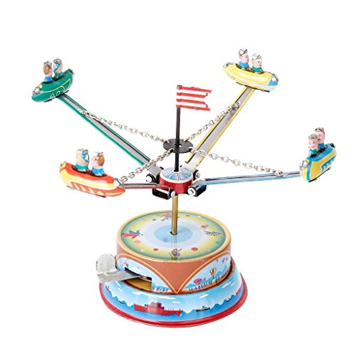 French Mime Costume Ideas (Wind Up Rotating Spacecraft Space Ship Merry Go Round Tin Toy)