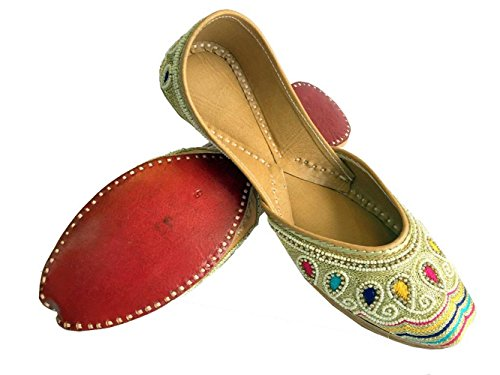 Schritt N Style Frauen Multi Moti & Gewinde Arbeit Khussa Schuhe Panjabi jutti