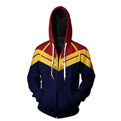 (Adult Avenger's Endgame Quantum Realm Hoodie Jacket Costume Cosplay Costume Zipper Pullover Shirts Sweatshirt. (2:Zipper Closure,)
