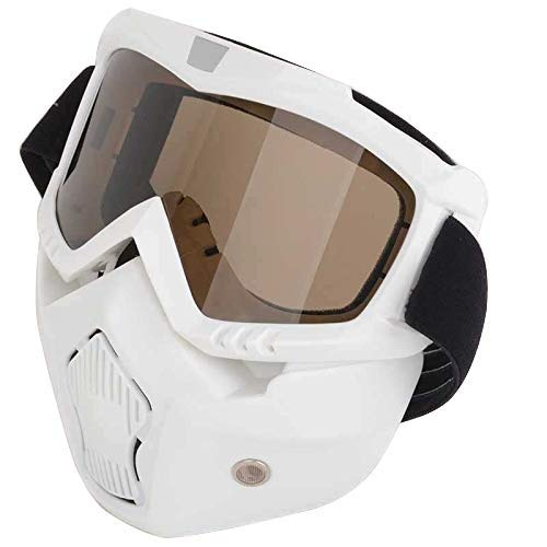 efc4f0ecf986 Mototrance Storm Trooper Detachable Goggles Nose Face Mask (White)   Amazon.in  Car   Motorbike