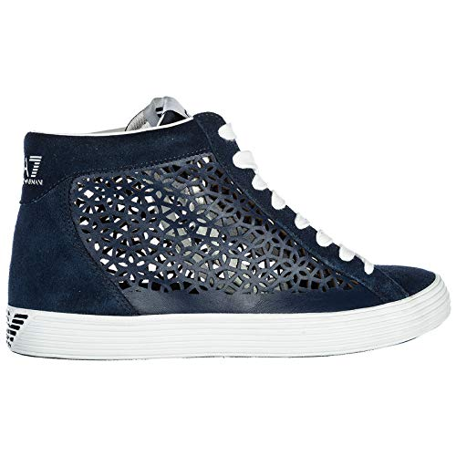 EA7 Pride Sneakers en Baskets Armani Hautes Chaussures Emporio Laser Daim Femme 6pq5Oz