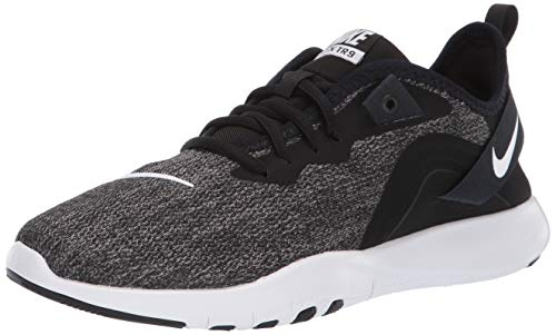 eb1e874b Nike Women's Flex Trainer 9 Sneaker, Black/White - Anthracite, 5.5 Regular  US