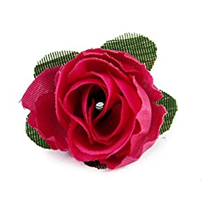 Tinksky 50pcs 3cm Artificial Roses Flower Heads Wedding Valentine's Day Decoration (Rosy) 3