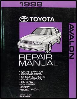 98 1998 Toyota Avalon owners manual