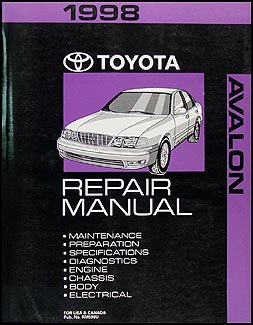 1998 toyota avalon repair shop manual original toyota amazon com rh amazon com toyota avalon repair manual pdf free toyota avalon repair manual free