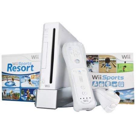 Wii Console w/ Bonus Wii Sports Resort & Wii MotionPlus Bundle by Wii