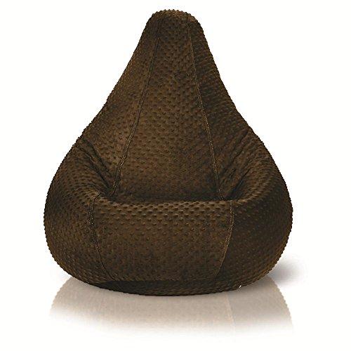 Adult Minky Dot Bean Bag, Chocolate Brown
