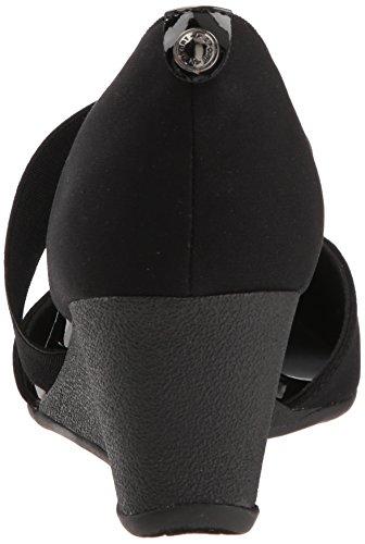 Anne Klein AK Sport Women's Tara Wedge Pump, Black/Multi Stretch Fabric, 8 M US