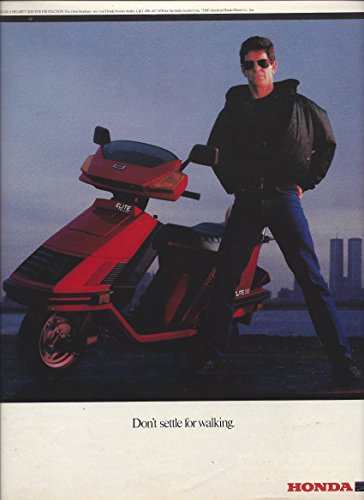 **PRINT AD** With Lou Reed For 1985 Honda Elite Scooters