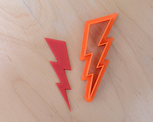 Lightning Bolt Cookie Cutter #2 (2 inches) -