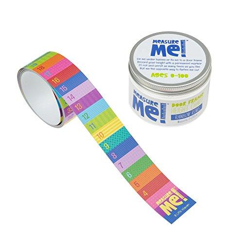 Little Wigwam Measure Me! Baby Roll-up Door Frame Growth Height Chart for Children Kids Room - Rainbow ()