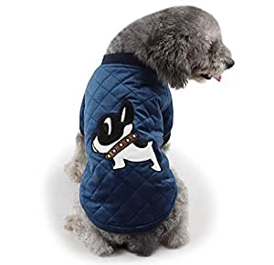 Pet dogs and cats clothes fashion cartoon small dogs pattern fleece pet apparel
