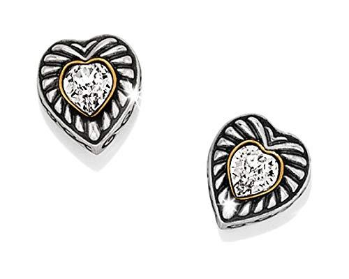 Heiress Crystal - Brighton Heiress Silver & Crystal Heart Stud Post Earrings