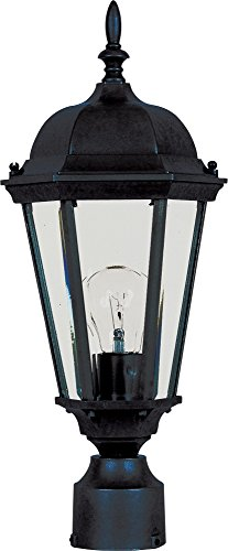 Maxim 1001BK, Westlake Cast, 1 Light Outdoor/Post Lantern, Black by Maxim Lighting
