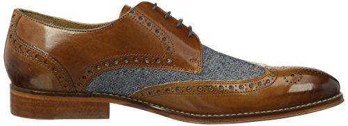 Melvin&Hamilton Kane 5, Zapatos de Cordones Derby para Hombre Mehrfarbig (Crust/Jeans Wood(1,3,4)/Lt.Blue(2) LS NAT)