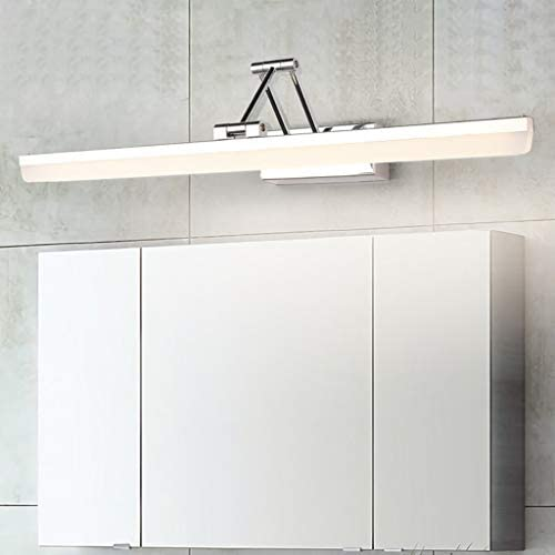 Spiegellampen, Einfacher Edelstahl Folding Spiegel Scheinwerfer LED Badezimmer WC Moderner Teleskopspiegelschrank Lichter wasserdicht und Anti-Beschlag-Make-up-Lampe,Lampe (Color : White light)