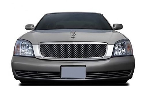 CADILLAC DEVILLE 2000 THRU 2005 ABS CHROME REPLACEMENT MESH STYLE UPPER GRILLE