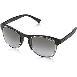 Police Men's S1954M 510U28 Wayfarer Sunglasses, Matte Black,Grey & Gradient Grey, 51 mm