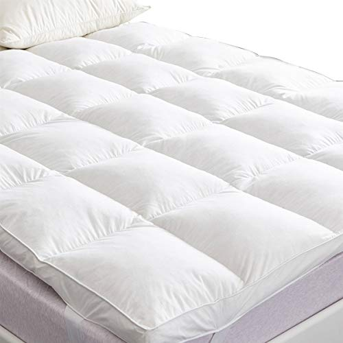 SUFUEE Goose Feather & Down Mattress Topper, 7cm Thick Bed Topper with 100%...