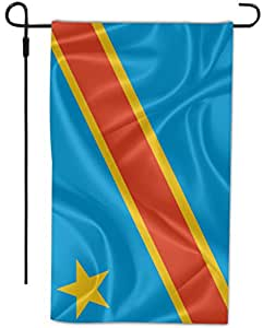 Rikki Knight Congo-Democratic Republic of The Flag Design Decorative House or Garden Flag, 12 by 18-Inch, Full Bleed