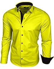 Baxboy Herenhemd lange mouwen / business vrije tijd bruiloft / gemakkelijk te strijken / slim fit / pak Kentkraag hemd B-500