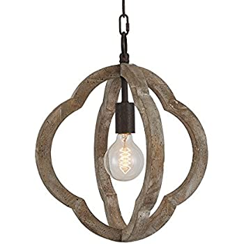 Vineyard Orb 4 Light Chandelier Sturdy Metal And Wood Frame For Durability Amazon Com