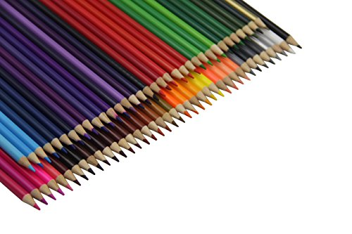 Everyday Essentials Premium Colored Pencils - Set of 72 Individual Colors with Roll up Pouch Canvas Pen Bag (72-Color) by GLTECK (Image #3)