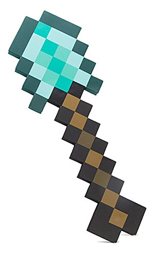 ThinkGeek Minecraft Foam Diamond Shovel - Dig Your Way To Success - Officially-Licensed Minecraft -