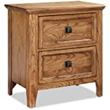 Imagio Home AL-BR-5302-BAS-C 2-Drawer Avalon Nightstand in Brushed Ash Finish