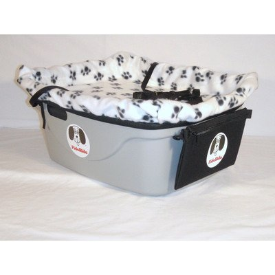 2 Seater Dog Car Seat Finish: Gray, Harness Sizes: Small and Large, Lining Color: White