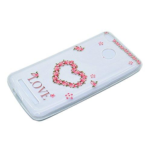 Ecoway TPU Funda Funda para Xiaomi Redmi 4X, Ultra Delgado Carcasa Antideslizante Suave Parachoques Resistente a los arañazos Contraportada Funda de silicona transparente transparente Parachoques Carc Amor
