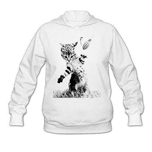 The Animal Cat Throw Grenade Cats Women's Hooded Sweatshirt