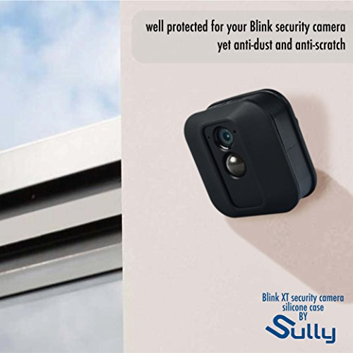 Silicone Covers Skins for Blink XT Security Camera (3 pcs Black) - Silicon Case for Blinks Home Security - Anti-Scretch Protective for Full Protection - Indoor Outdoor Best Home Accessories by SULLY