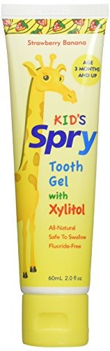 Spry Xlear Spry Tooth Gel with Xylitol, Strawberry Banana, 3 Count – 2 Ounce each