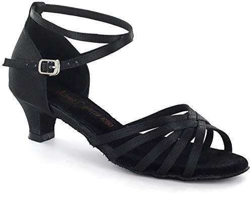 AlmaDanza Latin Sandal A261305 Heel''1.5 (7.5, Black)