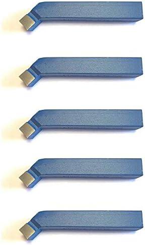 5 Stück 45° Drehstahl 10 x 10 mm - Drehmeißel mit Hartmetall - Qualität für Stahl - DIN4972
