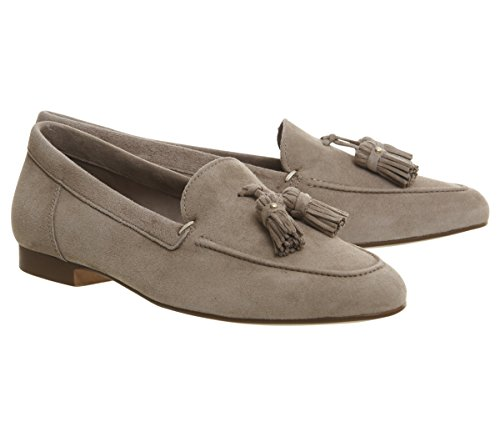 buy cheap pictures buy cheap new Office Retro Tassel Loafers Taupe Suede original cheap online cheap collections Inexpensive for sale 0v0MC