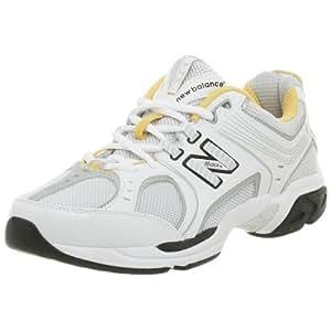 New Balance Men's MX747 Training Shoe,White/Silver,9.5 D