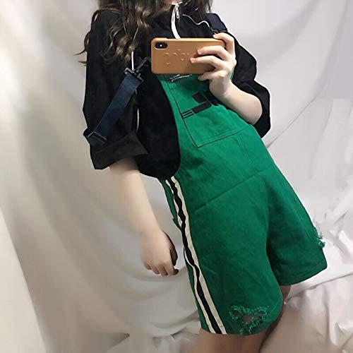 MV Women Korean Candy Loose Denim Sling Shorts Clothing