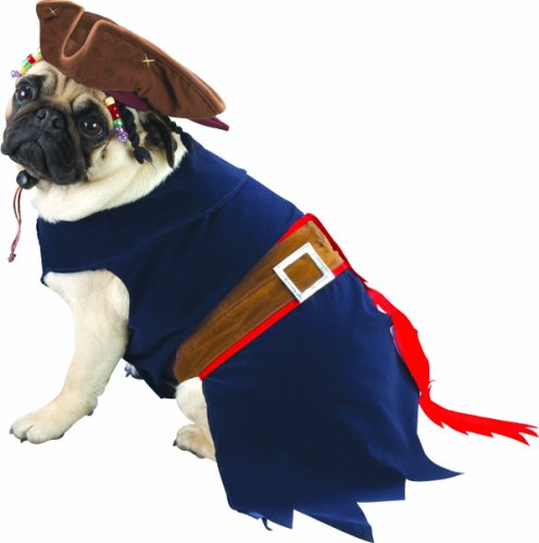 Jack Sparrow Halloween Pet Costume, Small, 8-11 lbs, My Pet Supplies