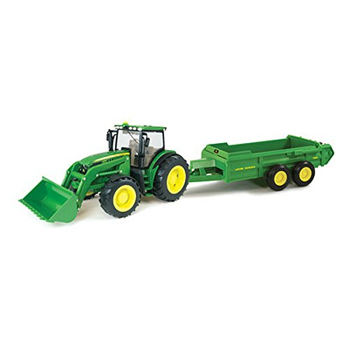 John Deere Big Farm Tractor and Hydra Spreader Toy by Ert...