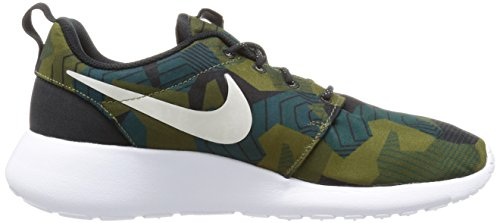 Nike Men's Roshe One Print Running Shoes Marrón (Cargo Khaki/Light Bone-white) JPwQauMrCk