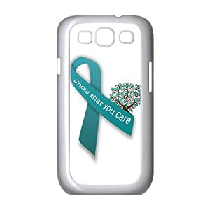 Teal Ribbon Ovarian Cancer Awareness Case for Samsung Galaxy S3 I9300