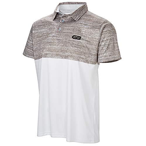 GB Golf Men's Tour Polo (X-Large, White)