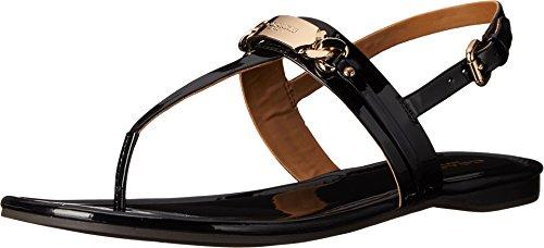 Sandalo In Pelle Verniciata Nero Da Donna